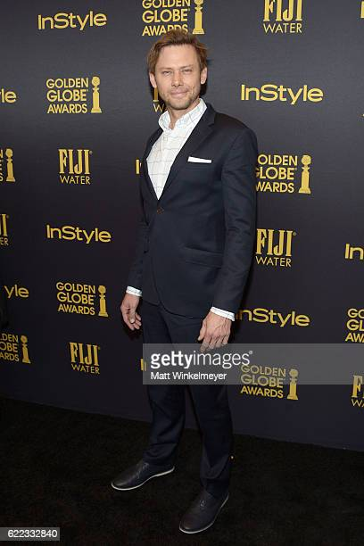 Actor Jimmi Simpson arrives at the Hollywood Foreign Press Association and InStyle celebrate the 2017 Golden Globe Award Season at Catch LA on...