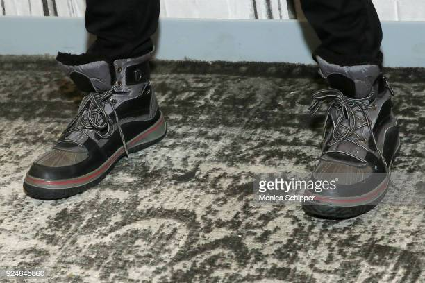 Actor Jimmi Simpson shoe detail visits Build Studio to discuss 'Unsolved The Murders of Tupac and the Notorious BIG' on February 26 2018 in New York...
