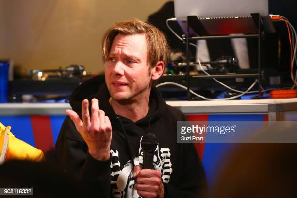 Actor Jimmi Simpson speaks onstage during the '20 Years Still Unsolved' Panel presented by USA Network UNSOLVED THE MURDERS OF TUPAC AND THE...