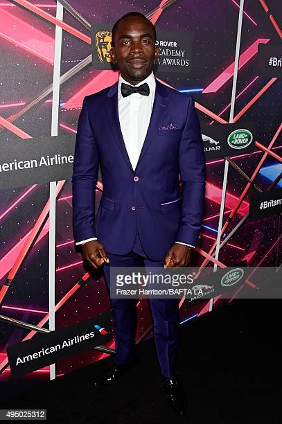 Actor Jimmy Akingbola attends the 2015 Jaguar Land Rover British Academy Britannia Awards presented by American Airlines at The Beverly Hilton Hotel...