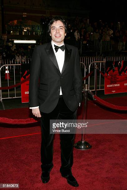 Actor Jimmy Fallon arrives at the Warner Bros premiere of the film Ocean's Twelve at Grauman's Chinese Theatre December 8 2004 in Hollywood California