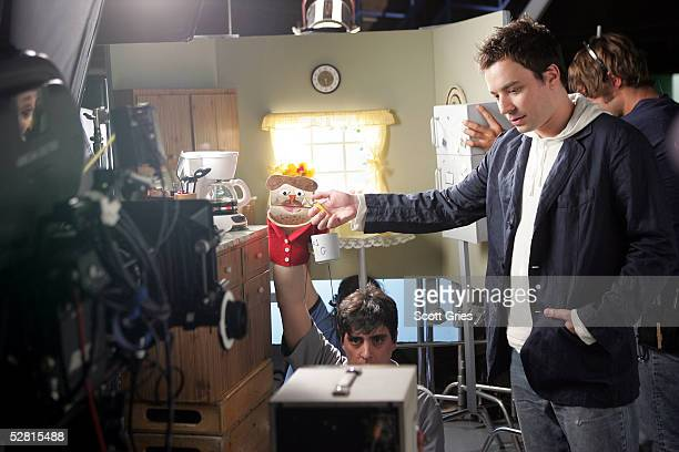 Actor Jimmy Fallon is seen during filming for a promo for the 2005 MTV Movie Awards at Paris Studios May 12 2005 in Queens Borough of New York City...