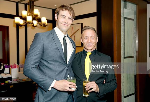 Actor Jimmy FlintSmith and Writer/Producer/CoDirector/Actor Ryan Zamo attend the red carpet premiere for the new Amazon series 'Back Stabber' at the...