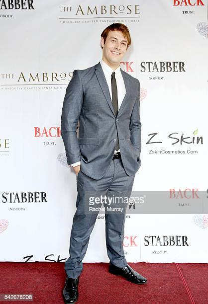 Actor Jimmy FlintSmith attends the red carpet premiere for the new Amazon series 'Back Stabber' at the Ambrose Boutique Hotel on June 23 2016 in...