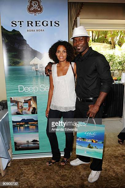 Actor Jimmy Jean Louis and his wife Evelyn attend the DPA preEmmy Gift Lounge at the Peninsula Hotel on September 17 2009 in Beverly Hills California