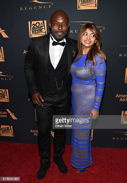Actor Jimmy JeanLouis and a guest attend the 20th Century Fox Academy Awards after party at Hollywood Athletic Club on February 28 2016 in Hollywood...