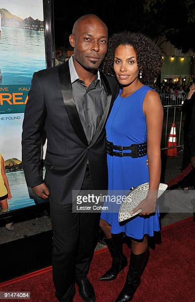 Actor Jimmy JeanLouis and Evelyn JeanLouis arrive at the Los Angeles premiere of Couples Retreat held the Mann's Village Theatre on October 5 2009 in...