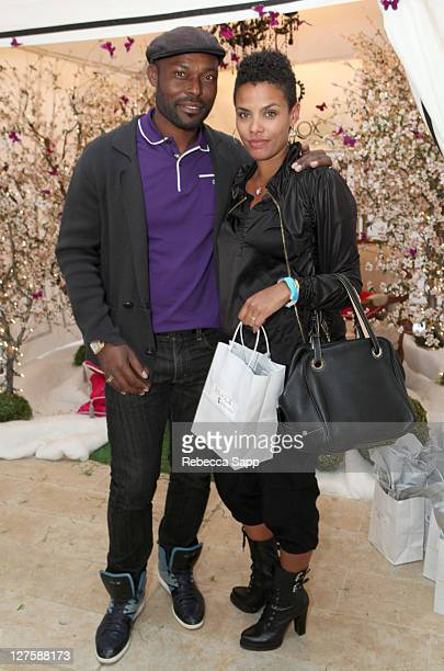 Actor Jimmy JeanLouis and Evelyn JeanLouis attend Kari Feinstein's Academy Awards Style Lounge at Montage Beverly Hills on February 24 2011 in...