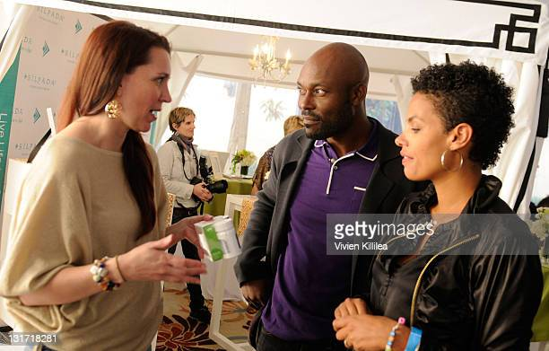 Actor Jimmy JeanLouis and Evelyn JeanLouis attend USANA at Kari Feinstein's Academy Awards Style Lounge at Montage Beverly Hills on February 24 2011...