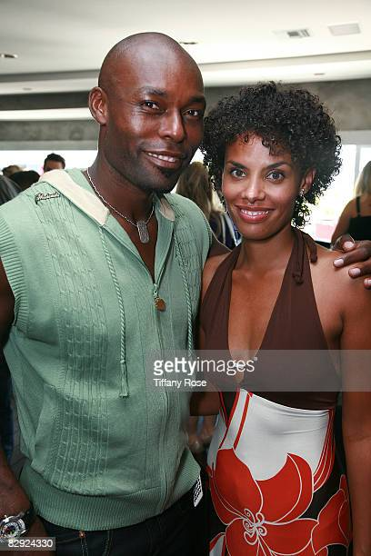 Actor Jimmy JeanLouis and his wife Evelyn attend Melanie Segal's Emmy House on September 19 2008 in Los Angeles California