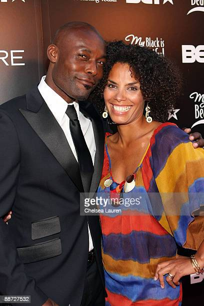 Actor Jimmy JeanLouis and his wife Evelyn JeanLouis attend the Pre Party hosted by Debra Lee in celebration of the BET Awards 2009 at the Drago...