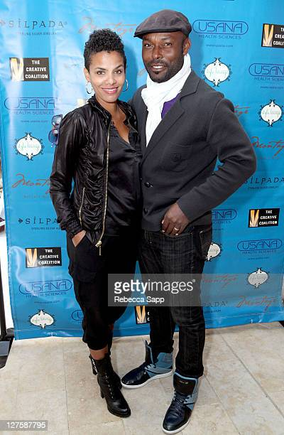 Actor Jimmy JeanLouis and wife Evelyn attend Kari Feinstein's Academy Awards Style Lounge at Montage Beverly Hills on February 24 2011 in Beverly...