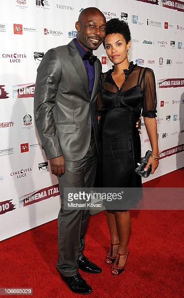 Actor Jimmy JeanLouis and wife Evelyn attend the Cinema Italian Style Opening Night at the Egyptian Theatre on November 9 2010 in Hollywood California