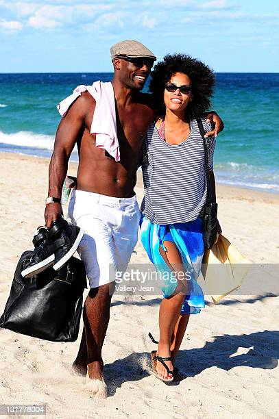 COVERAGE** Actor Jimmy JeanLouis and wife Evelyn JeanLouis are sighted walking on the beach on October 16 2010 in Fort Lauderdale Florida