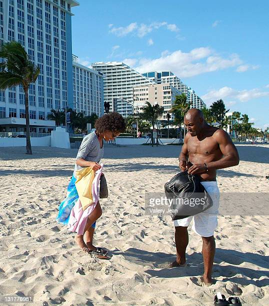 COVERAGE** Actor Jimmy JeanLouis and wife Evelyn JeanLouis are sightedon the beach on October 16 2010 in Fort Lauderdale Florida