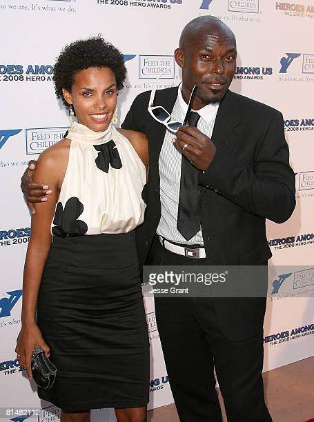 Actor Jimmy JeanLouis arrives with his wife Evelyn to the 2008 Hero Awards on June 6 2008 at the Universal City Hilton Hotel in Universal City...