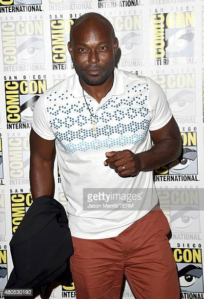 "Actor Jimmy Jean-Louis attends ""Heroes Reborn"" Press Room during Comic-Con International 2015 at Hilton Bayfront on July 12, 2015 in San Diego,..."