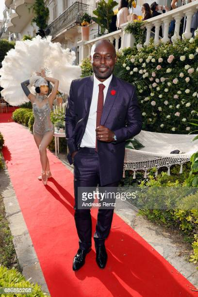 Actor Jimmy JeanLouis attends the Artists for Peace and Justice cocktail event celebrating the 70th Annual Cannes Film Festival presented on the...