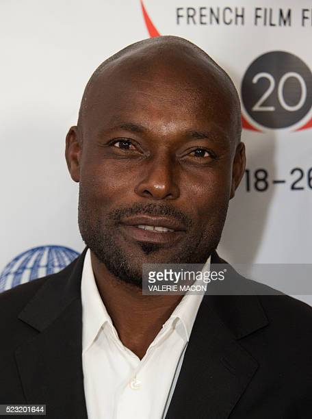 Actor Jimmy JeanLouis attends the Barnes after Party during the 20th annual COLCOA French Film Festival in Beverly Hills California on April 21 2016...