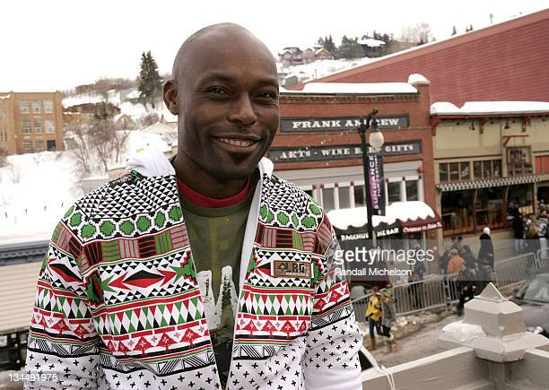 Actor Jimmy JeanLouis of 'Adventures of Power' poses at the Sky 360 Delta Lounge during 2008 Sundance Film Festival on January 20 2008 in Park City...