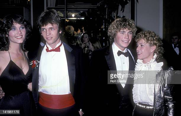Actor Jimmy McNichol and date, actor Christopher Atkins and actress Kristy McNichol attend the 39th Annual Golden Globe Awards on January 30, 1982 at...