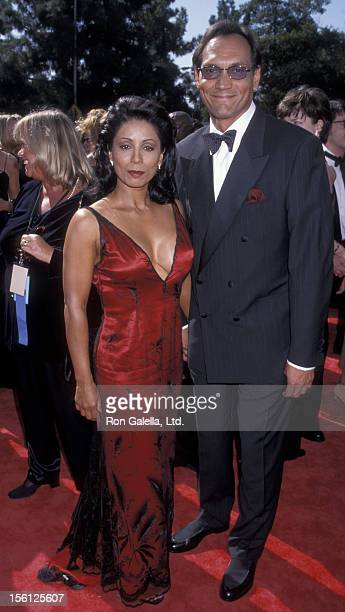 Actor Jimmy Smith and Wanda De Jesus attending 50th Annual Primetime Emmy Awards on September 13 1998 at the Shrine Auditorium in Los Angeles...