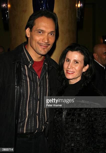 Actor Jimmy Smits and Commissioner of the New York Film Office Katherine Oliver at the New York City Latin Media and Entertainment Commission salutes...