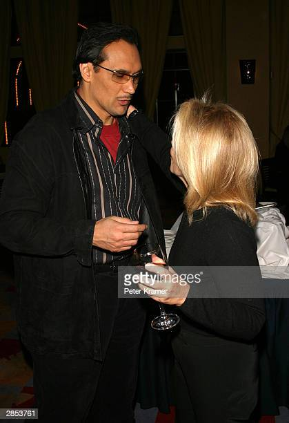 """Actor Jimmy Smits and producer Daryl Roth at the New York City Latin Media and Entertainment Commission salutes """"Anna in the Tropics"""" January 8, 2004..."""