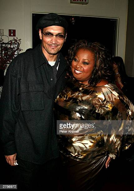 """Actor Jimmy Smits and TV host Star Jones at the after party for the play opening of """"Caroline, or Change"""" November 23, 2003 in New York City."""