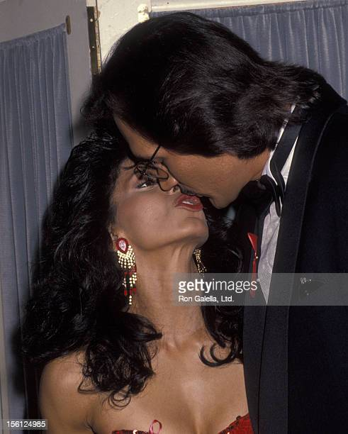 Actor Jimmy Smits and Wanda De Jesus attending 22nd Annual Nosotros Golden Eagle Awards on June 5 1992 at the Beverly Hilton Hotel in Beverly Hills...