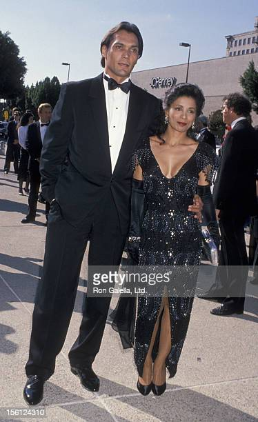 Actor Jimmy Smits and Wanda De Jesus attending 41st Annual Primetime Emmy Awards on September 17 1989 at the Pasadena Civic Auditorium in Pasadena...
