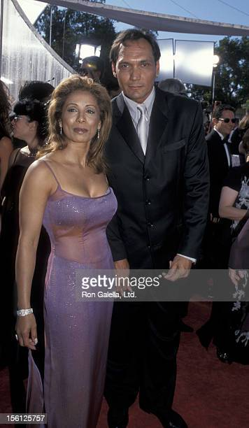 Actor Jimmy Smits and Wanda De Jesus attending 51st Annual Primetime Emmy Awards on September 12 1999 at the Shrine Auditorium in Los Angeles...