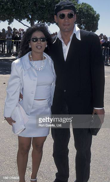 Actor Jimmy Smits and Wanda De Jesus attending Eleventh Annual IFPWest Independent Spirit Awards on March 23 1996 at the Santa Monica Civic Beach in...