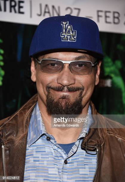 Actor Jimmy Smits arrives at the opening night performance of Elliot A Solder's Fugue at the Kirk Douglas Theatre on February 3 2018 in Culver City...