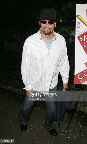 Actor Jimmy Smits attends the Public Theater premiere of Mother Courage And Her Children at The Delacorte Theatre in Central Park on August 21 2006...