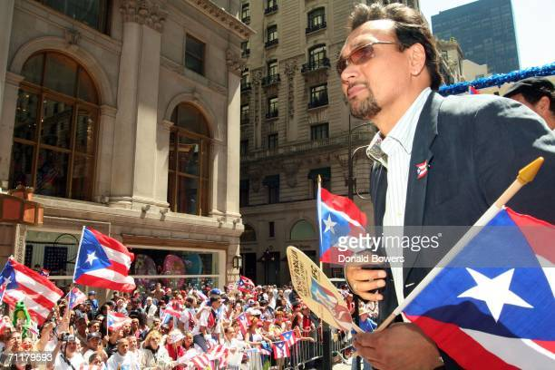 Actor Jimmy Smits is seen during the Puerto Rican Day Parade June 11 2006 in New York City The Puerto Rican Day Parade in New York City began in 1958...