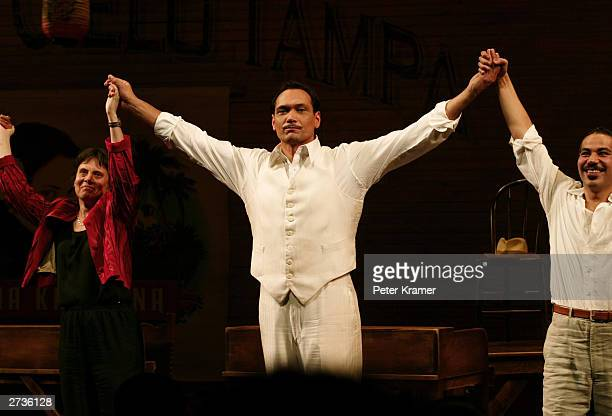 Actor Jimmy Smits performs in the play opening of Anna in the Tropics held on November 16 2003 in New York