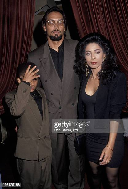 Actor Jimmy Smits son Joaquin Smits and Wanda De Jesus attending 100th Episode Party of P Rodriguez Show on April 22 1992 at the Atlas Bar and Grill...