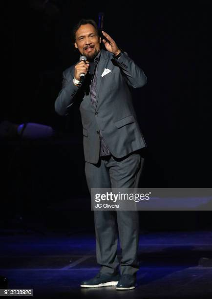 Actor Jimmy Smits speaks onstage during The Conga Room's 20th Anniversary Salsa Extravaganza at Microsoft Theater on February 1 2018 in Los Angeles...