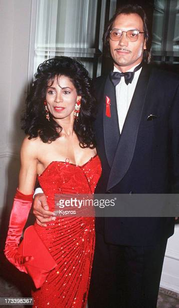 Actor Jimmy Smits with his partner actress Wanda De Jesus circa 1992