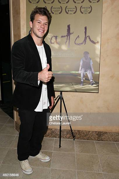 Actor Jimmy Tatro arrives at the screening of David Henrie's new short film Catch at Sunset Screening Room on June 5 2014 in West Hollywood California