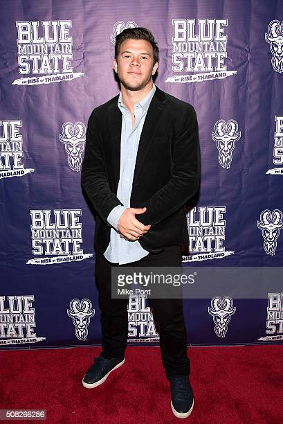 Actor Jimmy Tatro attends the Blue Mountain State The Rise of Thadland New York Premeire at Landmark's Sunshine Cinema on February 3 2016 in New York...