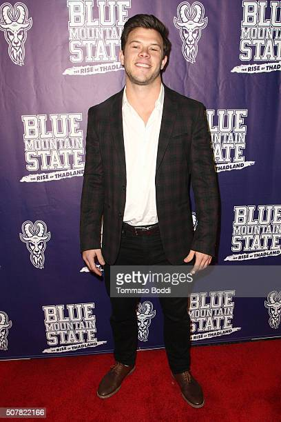 Actor Jimmy Tatro attends the premiere of Lionsgate's Blue Mountain State The Rise Of Thadland held at The Fonda Theatre on January 31 2016 in Los...