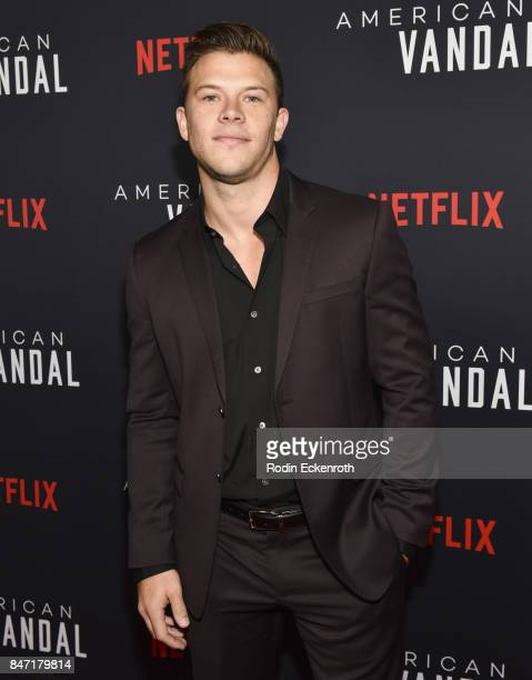 Actor Jimmy Tatro attends the premiere of Netflix's American Vandal at ArcLight Hollywood on September 14 2017 in Hollywood California