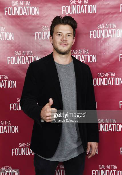 Actor Jimmy Tatro attends the SAGAFTRA Foundation Conversations screening of American Vandal at the SAGAFTRA Foundation Screening Room on June 13...