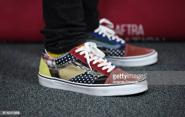 Actor Jimmy Tatro shoe detail attends the SAGAFTRA Foundation Conversations screening of American Vandal at the SAGAFTRA Foundation Screening Room on...