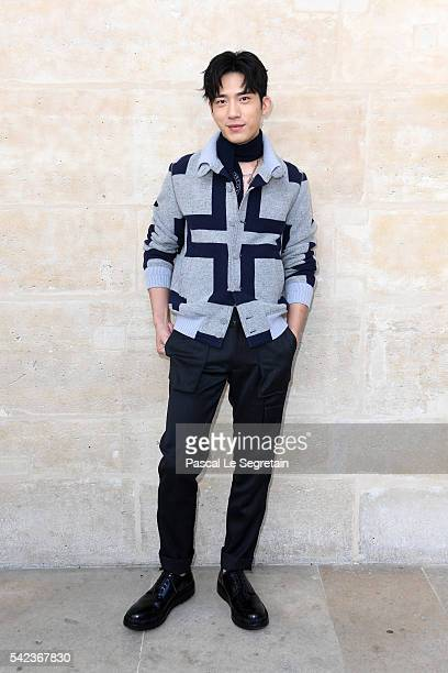Actor Jing Bo Ran attends the Louis Vuitton Menswear Spring/Summer 2017 show as part of Paris Fashion Week on June 23, 2016 in Paris, France.