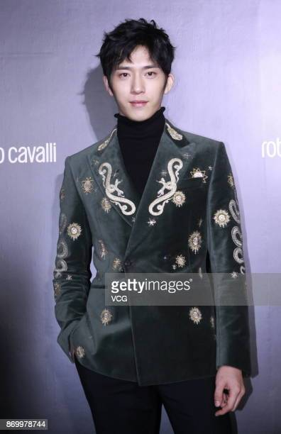 Actor Jing Boran attends the opening ceremony of Roberto Cavalli's flagship store on November 3 2017 in Beijing China