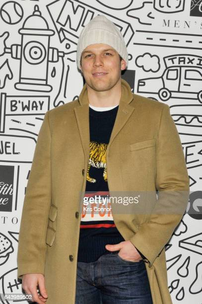 Actor JJake Lacy attends the Saks Downtown Men's opening on February 22, 2017 in New York City.