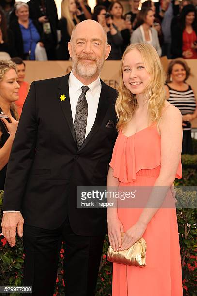 Actor JK Simmons and daughter arrive at the 22nd Annual Screen Actors Guild Awards held at The Shrine Auditorium